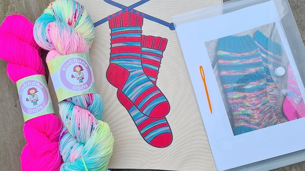 Sock knitting kit - Mermaid