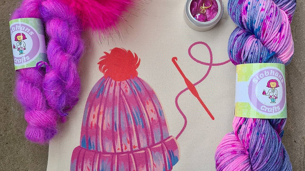 Crochet Hat Kit - Galaxy
