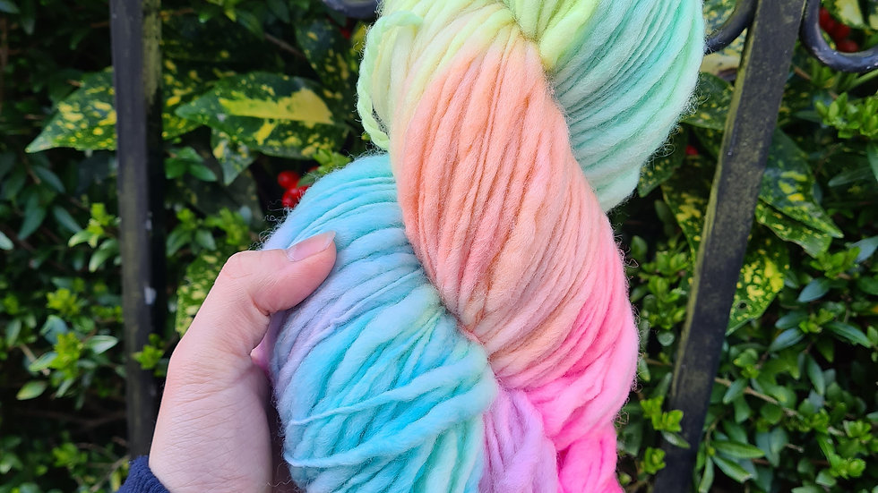 Pastel Rainbow -  thick and thin