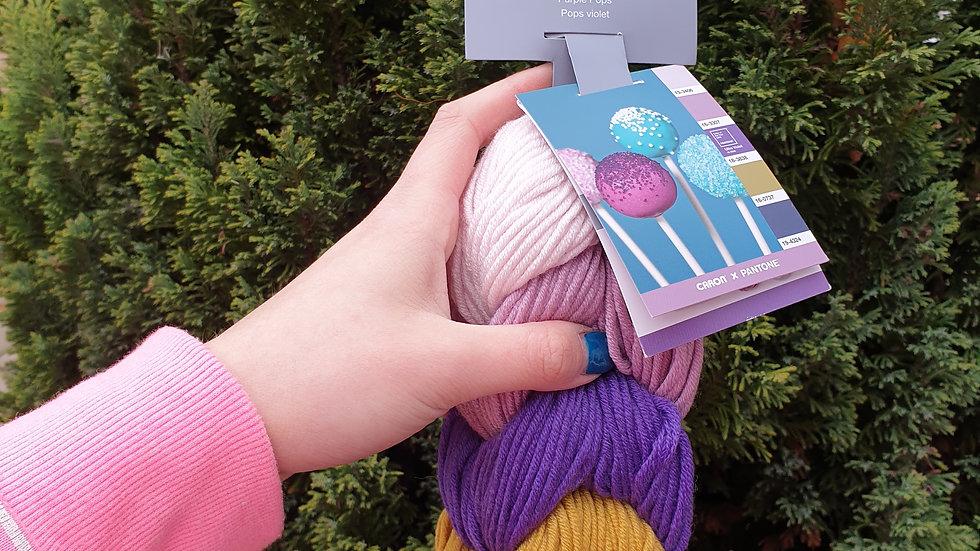Caron x pantone- purple pops