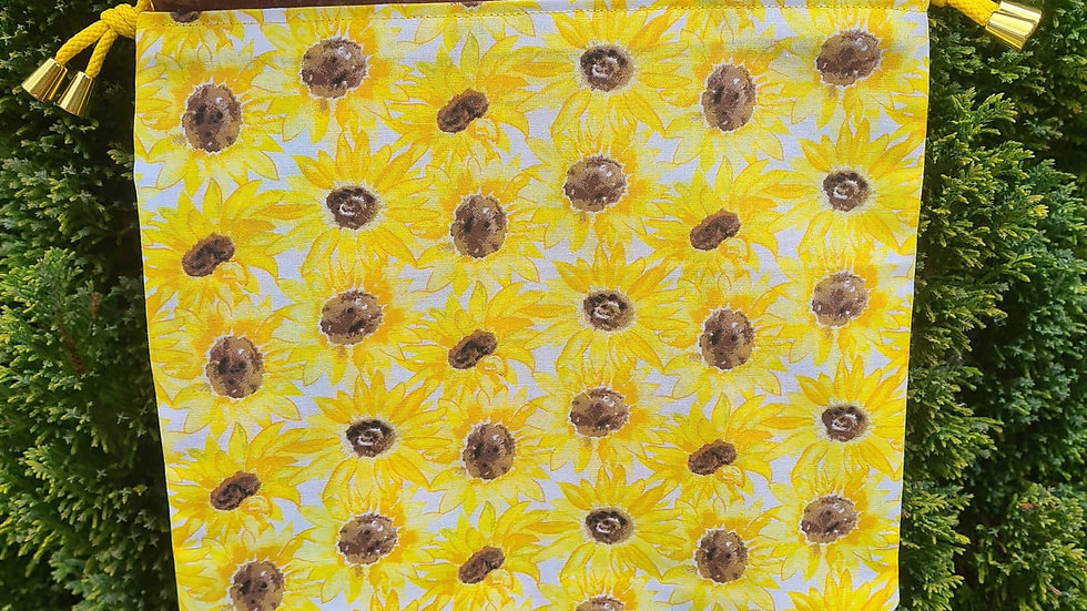 Sunflower project bag