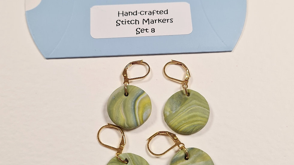 Hand-crafted stitch markers #8