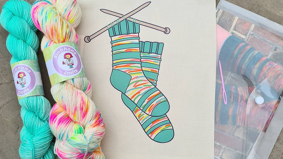 Sock knitting kit - Confetti