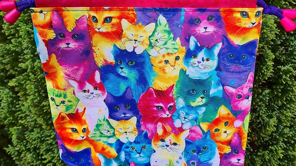 Rainbow Cat project bag