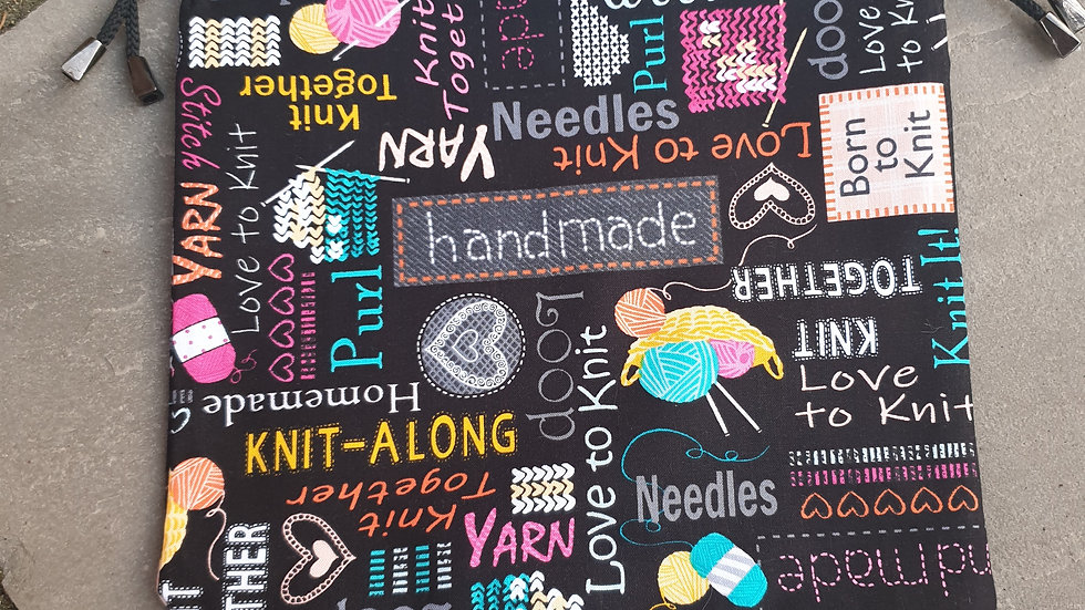 Dark Knitting project bag