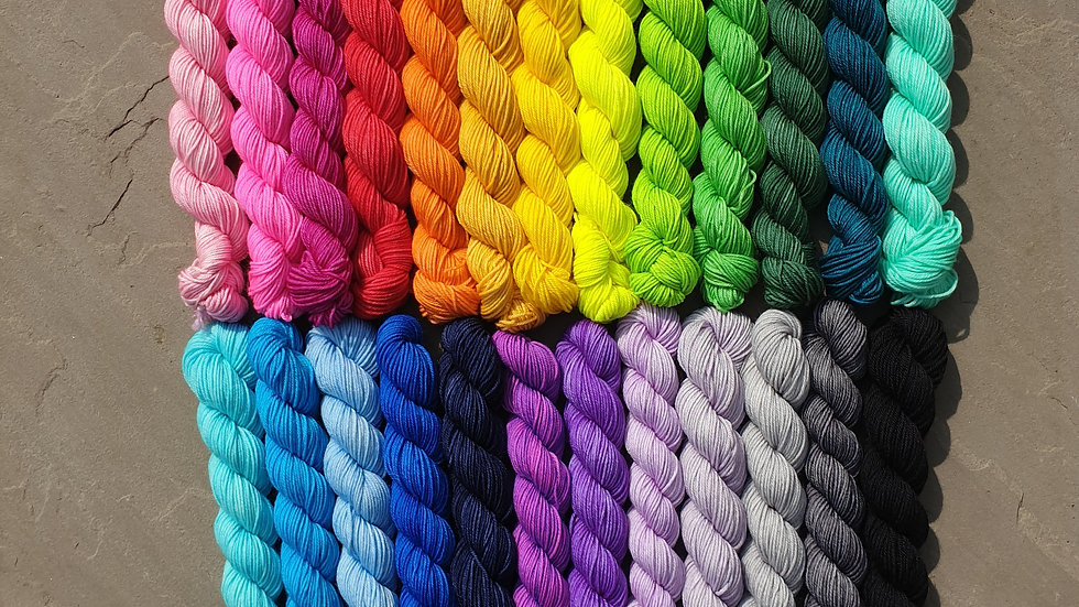 Rainbow mini set (25 x 20g skeins)