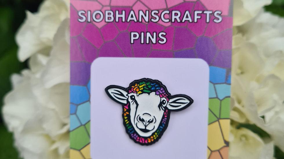 """""""Ewe""""nity Sheep enamel pin"""