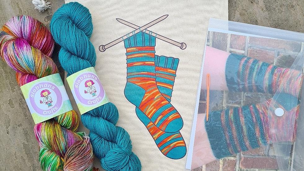 Sock knitting kit - Autumn Mystery