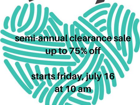 Semi-Annual Clearance Sale