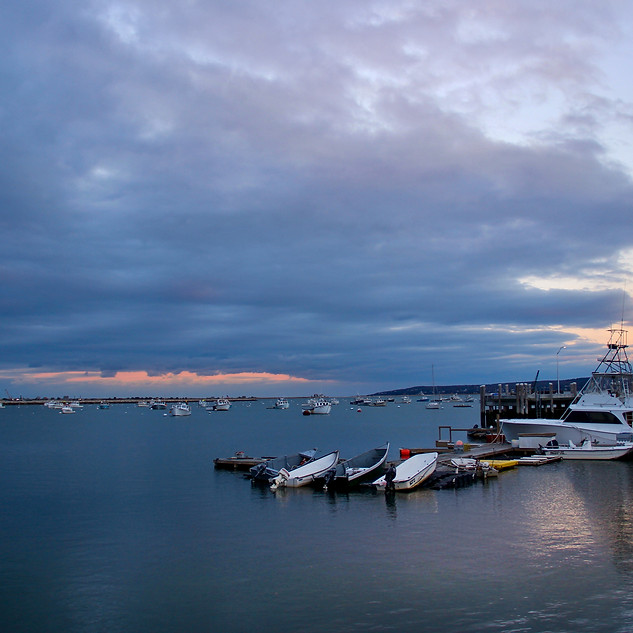 Sunset over Plymouth Harbor