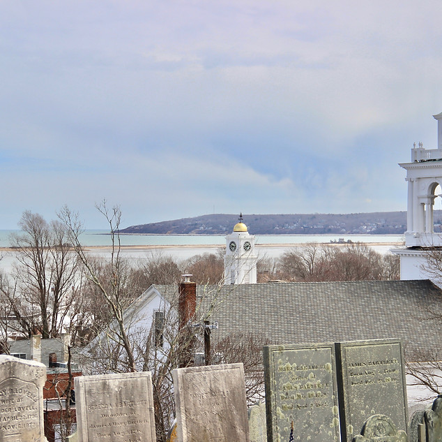 Burial Hill overlooking the harbor