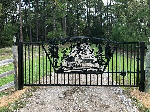 Custom Driveway Scenery Gate | Beautiful Custom Made Gate | Entrance Gate