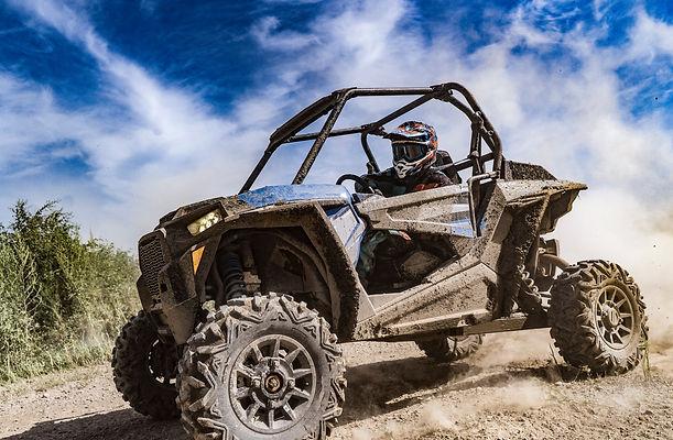 ATV adventure. Buggy extreme ride on dir