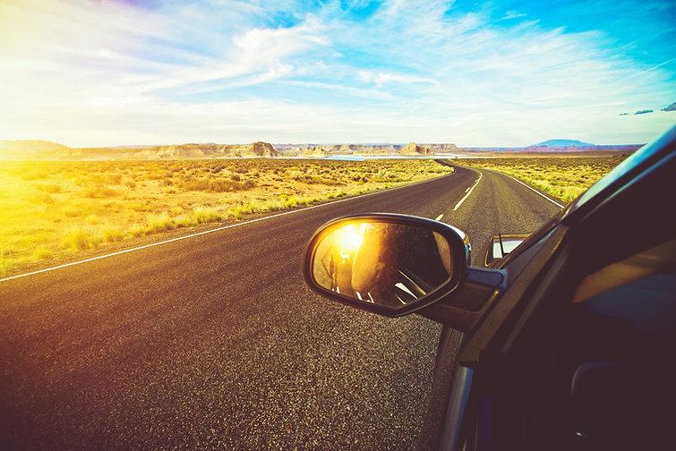 Arizona Scenic Drive. Driving Down the R