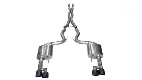 "Corsa Performance 3"" Xtreme Cat-Back Exhaust System with Black Quad Tip"