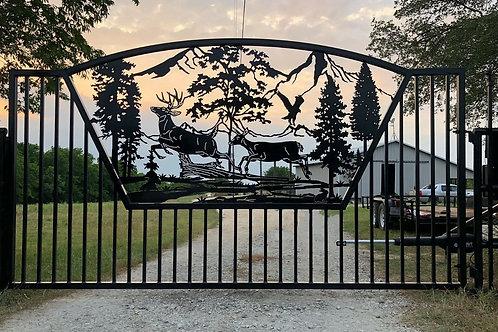Custom Driveway Scenery Gate   Beautiful Custom Made Gate   Entrance Gate
