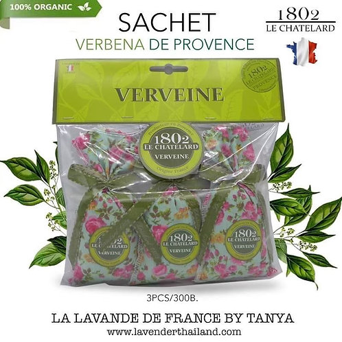 Verbena 3 scented sachets with Bow