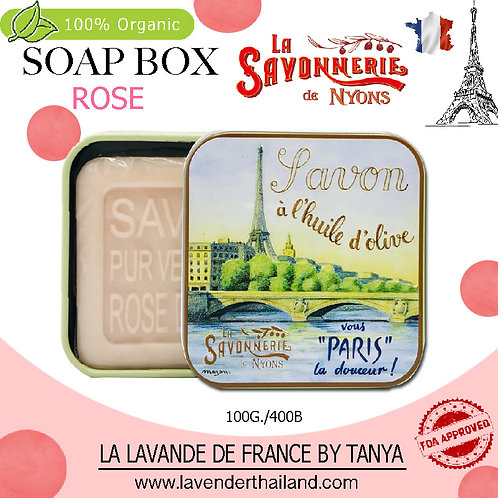 NYONS - SOAP BOX - ROSE (2) - 100G - 30521 - EIFFEL BRIDGE