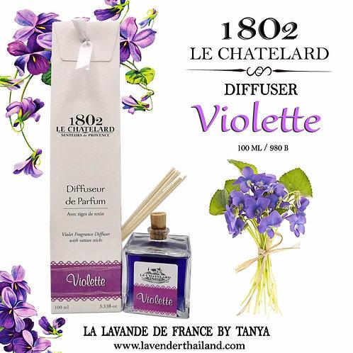 LC 1802 - DIFFUSEUR - RATTAN STICK - 100ML -VIOLET