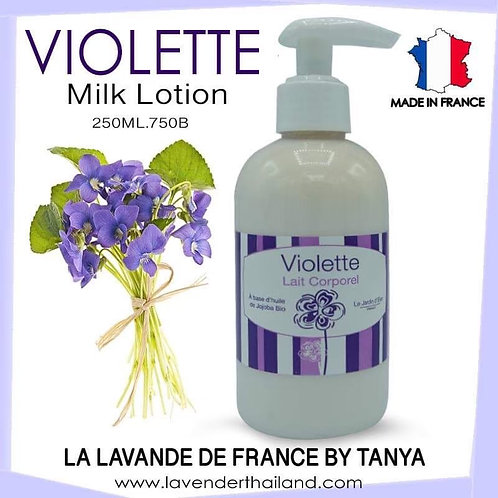 Violet body lotion with pump 250ml