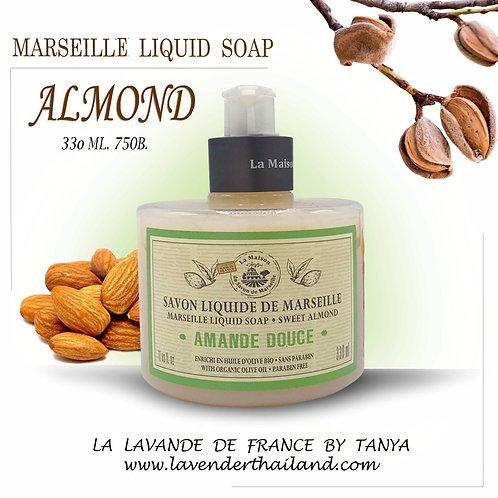 MARSEILLE - LIQUID SOAP - 330ML - SWEET ALMOND
