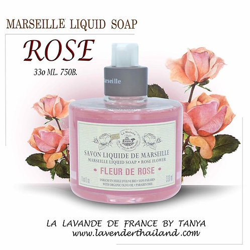 MARSEILLE - LIQUID SOAP - 330ML - ROSE