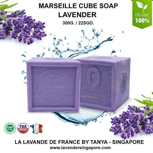 Lavender Marseille cube soap 300gr