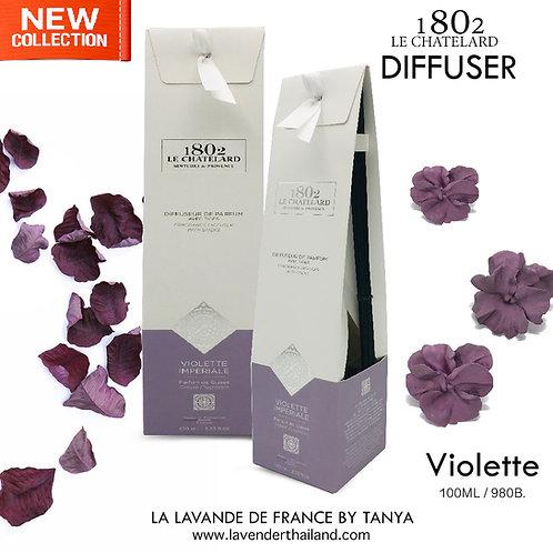 LC 1802 - DIFFUSER WITH RATTAN STICK - VIOLETTE - 100ML