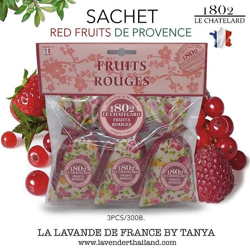 Red Fruits 3 scented sachets with bow