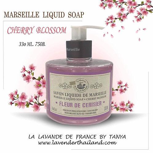 MARSEILLE - LIQUID SOAP - 330ML - CHERRY BLOSSOM