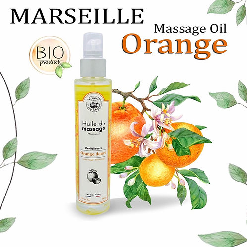 MARSEILLE - MASSAGE OIL - 100ML - SWEET ORANGE - REVITALIZING