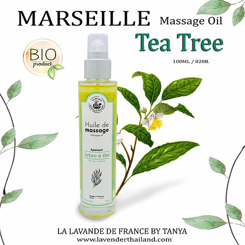 MARSEILLE - MASSAGE OIL - 100ML - TEA TREE - SOOTHING -