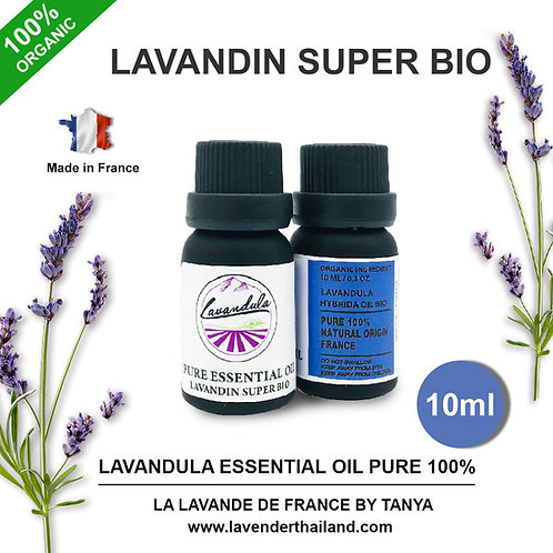 LAVANDULA - PURE 100% ESSENTIAL OIL - 10ML - LAVANDIN SUPER BIO
