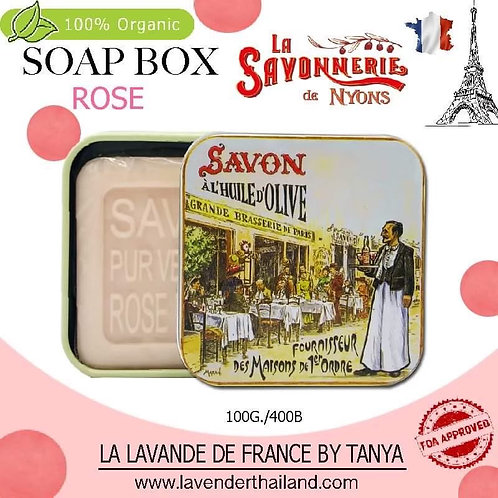 NYONS - SOAP BOX - ROSE (12) - 100G - 30541 - BRASSERIE