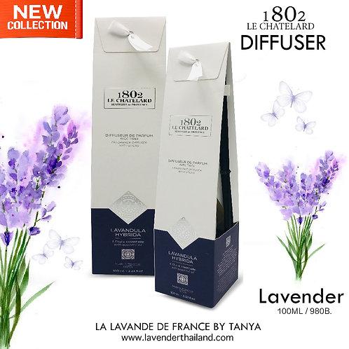 LC 1802 - DIFFUSER WITH RATTAN STICK - LAVENDER - 100ML