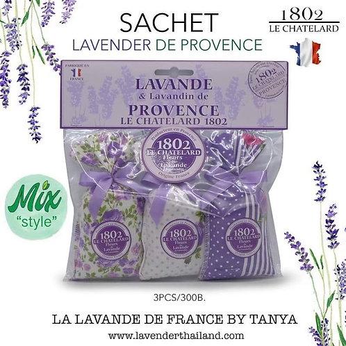 Lavender & Lavandin set 3 sachets with bow
