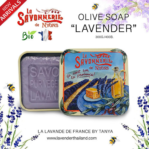 NYONS - SOAP BOX - LAVENDER (13) - 100G - 30501 - OLIVE CUBE LAVENDER FIELD