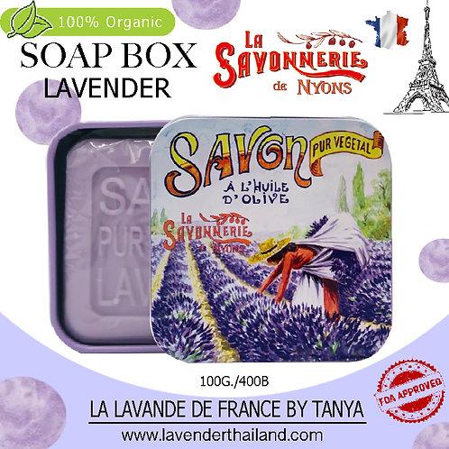 NYONS - SOAP BOX - LAVENDER (2) - 100G - 30526 - LAVENDER FIELD FARMER