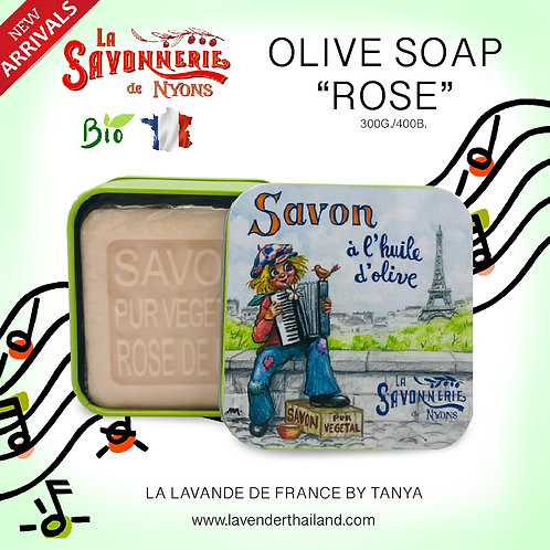 NYONS - SOAP BOX - ROSE (14) - 100G - GIRL MUSIC EIFFEL TOWER - 30523
