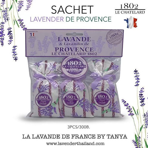 Lavander set of 3 sachets with bow