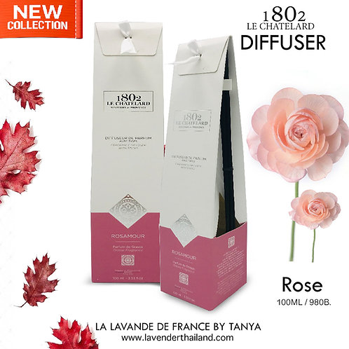 LC 1802 - DIFFUSER WITH RATTAN STICK - ROSE - 100ML