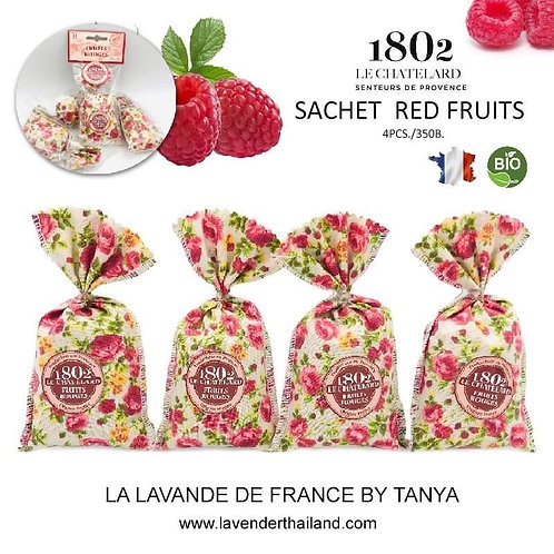 Red fruits string of 4 sachets
