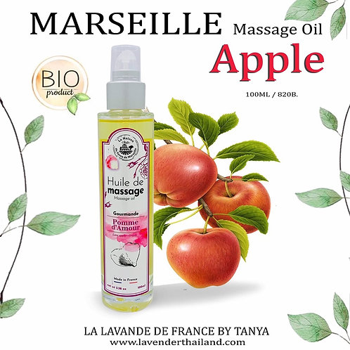 MARSEILLE - MASSAGE OIL - 100ML - LOVE APPLE GREEDY