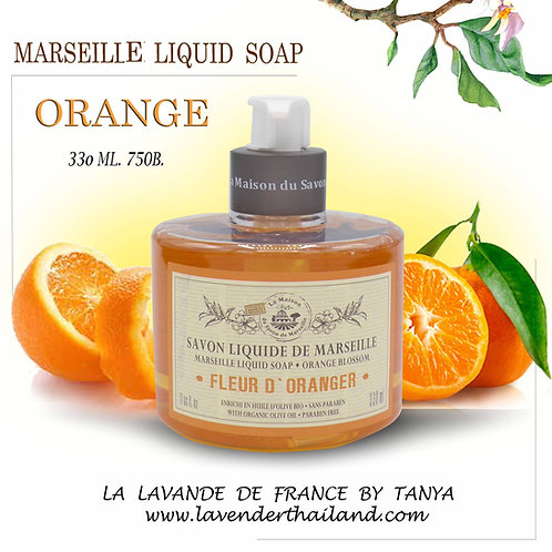 MARSEILLE - LIQUID SOAP - 330ML - ORANGE