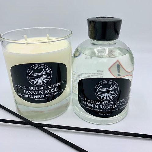 LAVANDULA JASMIN ROSE DIFFUSER &  CANDLE