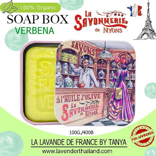 NYONS - SOAP BOX - VERBENA (3) - 100G - 30579 - PINK LADY AT TEA SHOP