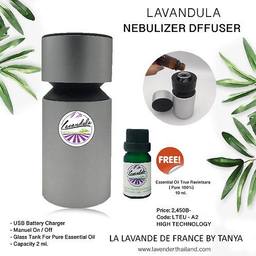 LAVANDULA - NEBULIZER DIFFUSER  ALUMINIUM- LTEU-A2 - BATTERY PORTABLE