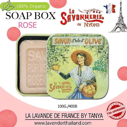 NYONS - SOAP BOX - ROSE (11) - 100G - 30511 - SAVON OLIVE GIRL