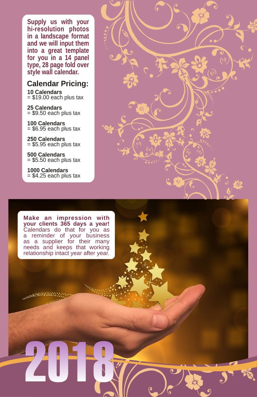 InPrint Calendar 2018