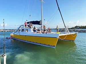 catamaran caribe 65' yachts and fishin' tulum riviera maya cancun